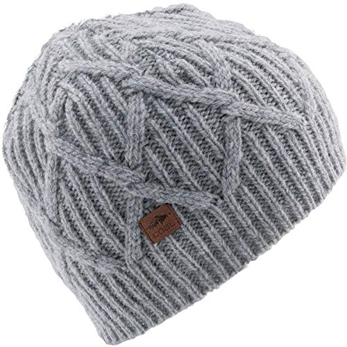 Coal Men's the Yukon Chunky Knit Warm Beanie Hat, Grey, One Size -