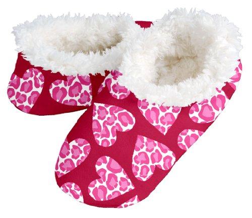 Snoozies Womens Fleece Footies Leopard product image