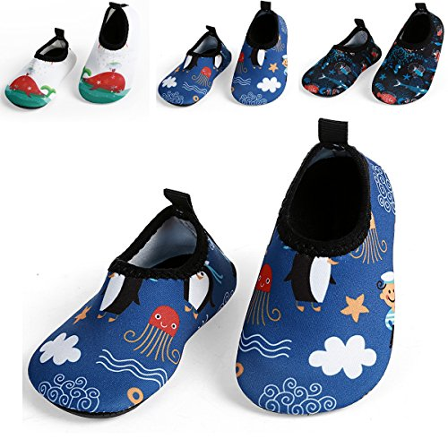 L-RUN Baby's Water Skin Shoes For Beach Swim Pool Blue US 0-6 Months=EU 15-16 (Shoes Baby Top)