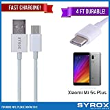 Syrox 20-Pack USB Type-C Cable, Reversible 4 ft Ultra Durable Fast Charging for Xiaomi Mi 5s Plus, Samsung Galaxy Note 8, S8 Plus, LG V30, V20, G6, G5, Google Pixel, 6P, Nintendo Switch and All