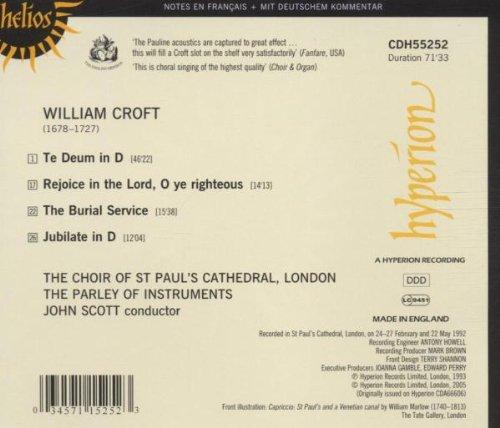Croft: Te Deum & Jubilate, Burial Service