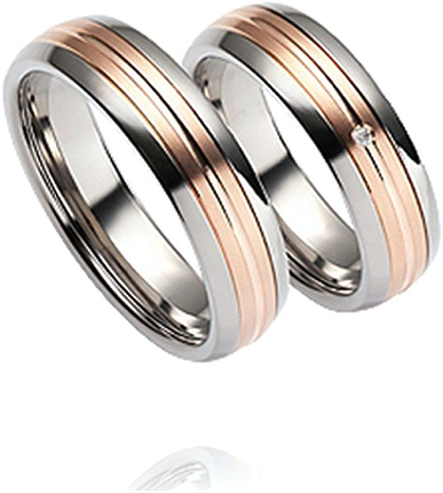 Trauringe Verlobungsringe Eheringe Freundschaftsringe Titan Gold 585 BRILLANT