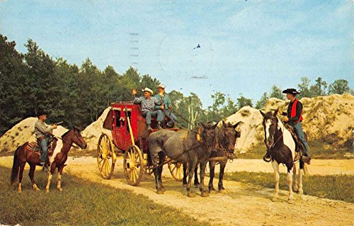 Ocean City Maryland Frontier Town Stage Coach Vintage Postcard K94956
