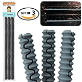 Set of 3 Heat Resistant Food Grade Silicone Oven Rack Guard Protector Shields (Grey)