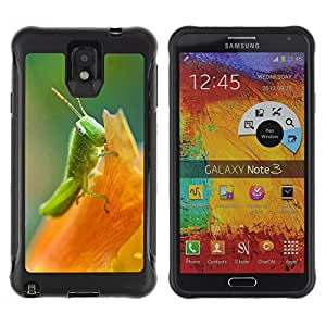 Suave TPU Caso Carcasa de Caucho Funda para Samsung Note 3 / Nature Beautiful Forrest Green 193 / STRONG