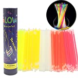 Southwest trading Inc Random color Glow Sticks Bulk 100 Count Approx 8'' Glow In The Dark Light Sticks Make for Glow Necklaces and Glow Bracelets (Style 1)