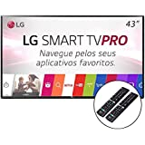 "TV 43"" SMART LG LED HD CONVERSOR DIGITAL COM SUPORTE PAREDE 3GREEN 2 CONTROLES"