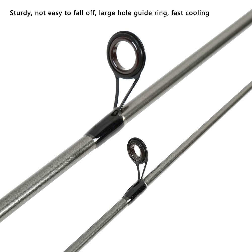 1,8 m // 2,1 m Balai Spinn-Ruten Glasfaser Power Hand Angelrute Abnehmbare 3 Abschnitt Casting Rod Spinning Angelzubeh/ör