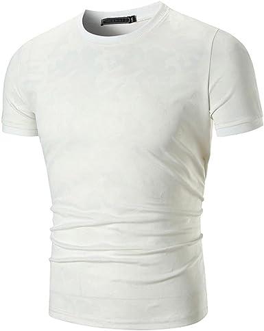 Camiseta para Hombre, Xinantime Blusa de Camuflaje Casual para Hombre Tops Camisa Imprimir O Neck Pullover Camiseta de Manga Corta: Amazon.es: Ropa y accesorios