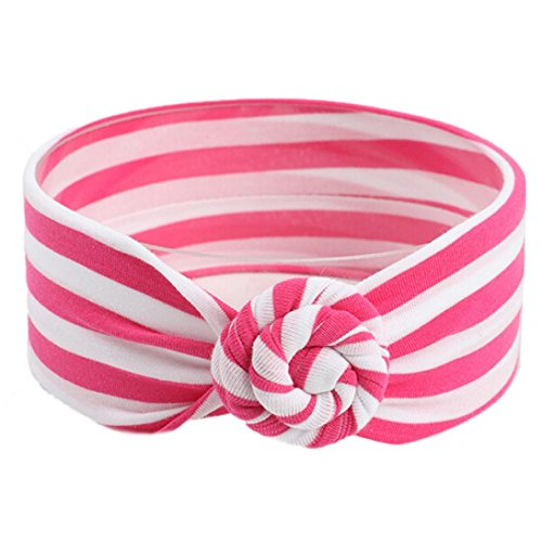 - Dream Room Newborn Baby Fashion Headbands for Girls Photo Photography Prop Outfits Headwear Stripe Infant (Hot Pink)
