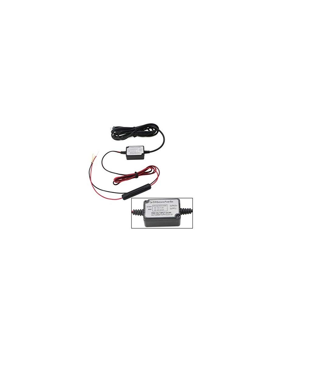 Spytec Mini Hardwire Fuse Kit Dash Cam Curt T Connector Wiring Usb Keeps 12v Outlet Free Cell Phones Accessories