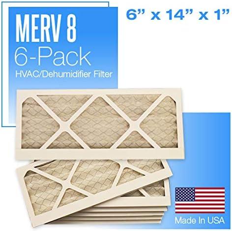 6 PACK MERV 8 AIR FILTERS