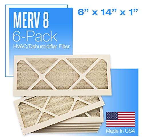 6x14x1 MERV Pleated Air Filter