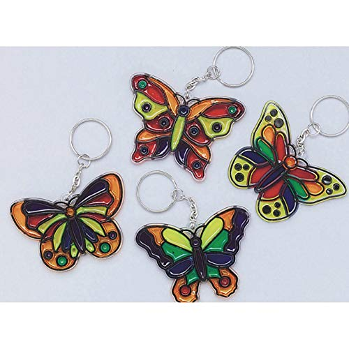 (S&S Worldwide Butterfly Sun Catcher Key Chain Craft Kit (Pack of 12))