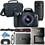 Canon EOS Rebel T6 18MP Digital SLR Camera Retail Packaging Bundle (18-55mm & 55-250mm Premium Bundle)