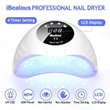 60W LED Nail Lamp, iBealous Fast Nail Dryer for Gel