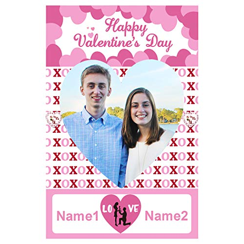 2 In 1 Valentines Day Photo Booth Props Frame Party Supplies