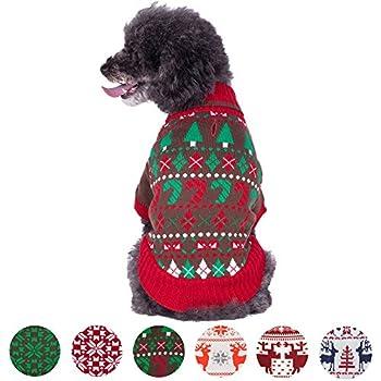 Amazon.com : Ugly Christmas Sweater Emoji Dog Sweater, Medium ...