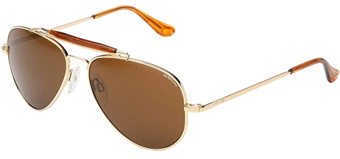 19e444851469 Randolph Sportsman Sunglasses Gold 23K/Skull/Glass Tan Polarized AR 57mm