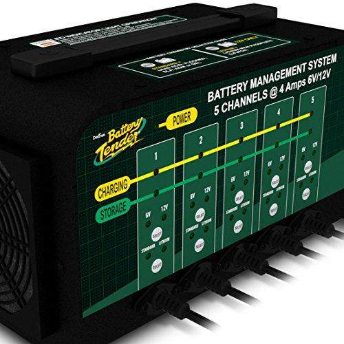Battery Tender 5-Bank 021-0133, 4 Amp, 6V or 12V Lithium Only Selectable Commercial Battery Management System by Battery Tender (Image #1)