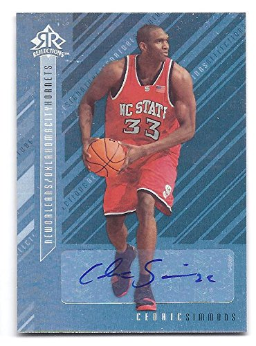2006 Signature Reflections - CEDRIC SIMMONS 2006-07 Upper Deck Reflections Signature #CS AUTOGRAPH Rookie Card RC North Carolina State Wolfpack New Orleans Hornets Basketball