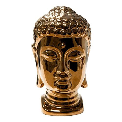 Buddha Ceramic Head Statue (Benzara Copper Ceramic Buddha Head Statue)