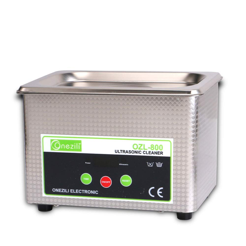 ONEZILI Ultrasonic Cleaner, Professional Ultrasonic Jewelry Cleaner Machine with 18 Digital Timer for Cleaning Jewelry, Denture, Eyeglasses, Rings, Necklaces, Lenses, Watches, Gun Parts, Circuit Board