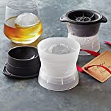 """Tovolo 2 Set Big Sphere Ice Molds 2.5"""" Ball Cocktails Scotch Whiskey Gift"""