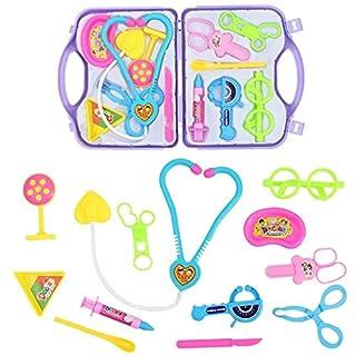 XuBa Pretend Doctor Kit F\u00fcr Giocattolo per bambini vestito amore piccola clinica portatile Doctor Kit F\u00fcr bambini Pretend Play medico Kit medicale \u00e4lige colore Come in figura