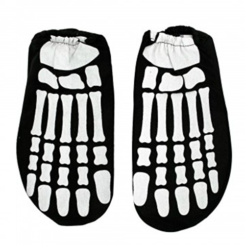 kole imports Children's Glow In The Dark Skeleton Feet (1 Pair) Halloween