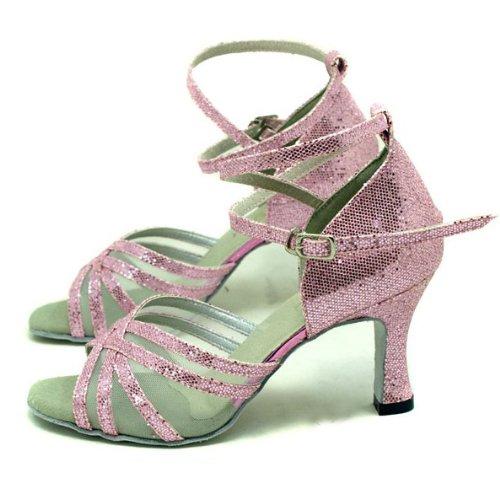 belt Pink Five clip lady shoes Hexagon Ballroom Latin Colorfulworld dance 1pTxfqw