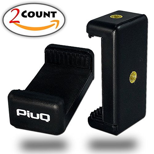 2 Pieces Set of PiuQ Smartphone Selfie Tripod Adapter - Universal Phone...