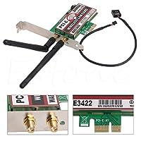 Network Card, Bluetooth 4.0 Dual-Band 2G/5G 300Mbps PCI-E PCI Express WAE3422 Network Card Wlan WiFi Adapter (1Piece)