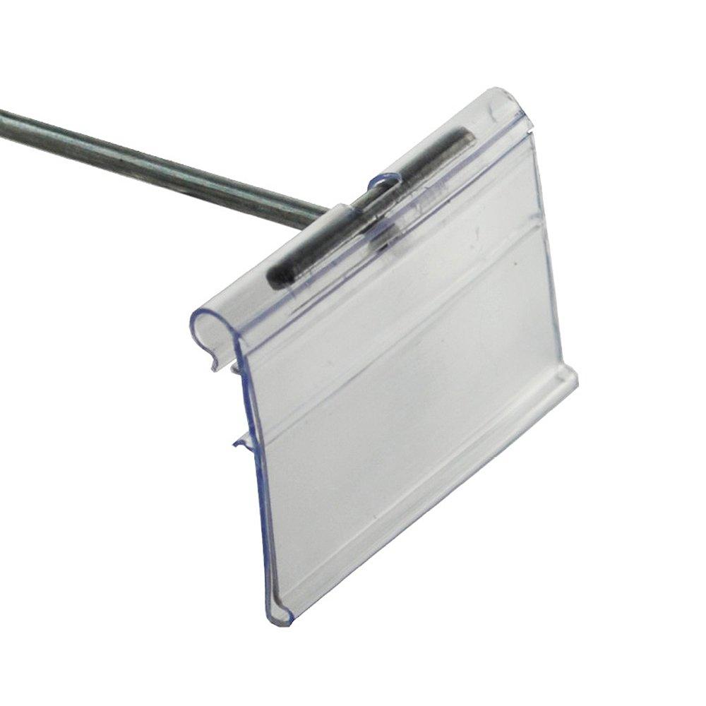 Azar 700842 1.5'' x 2'' Flip Scan Label Holder, 50 Pack