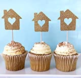 Set of 24 Housewarming Party Cupcake Toppers