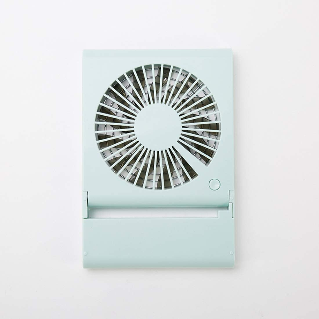 Pink USB Charge Fan Simple Style Mini Notebook Folding USB Fan with Wind 3 Speeds Color : Green Mini Fan