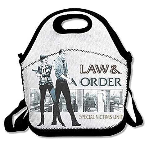 Black Fashion Law And Order Lightweight Unisex Lunch Bag For Woman Man Kid (The Good Wife Season 6 Watch Now)
