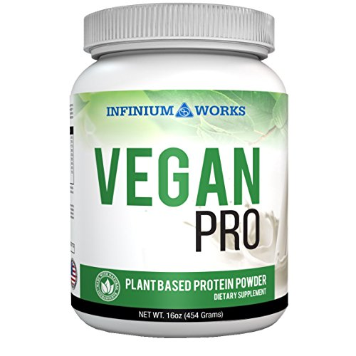 Vegan Pro – Plant Based Protein Powder| with Organic Hemp, All- Natural Sources of Omega's (Vanilla) 1lb (Non-Soy) by Infinium Works