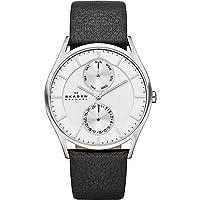 Skagen Men's Goldtone Watch with Brown L...