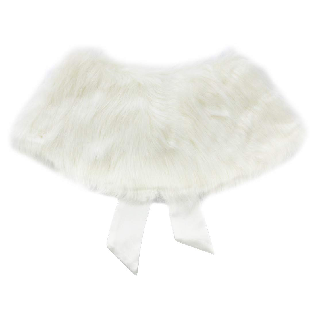 ranrann Kids Flower Girls Faux Fur Shawl Wrap Tippet Wedding Bridesmaid Bolero Shrug Princess Cloak Cape Accessories Cover up