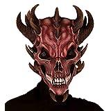 Forum Novelties Men's Devil Skull Latex Mask, Red, One Size