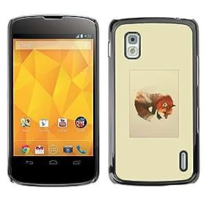 All Phone Most Case / Oferta Especial Duro Teléfono Inteligente PC Cáscara Funda Cubierta de proteccion Caso / Hard Case LG Nexus 4 E960 // Wolf Mountains