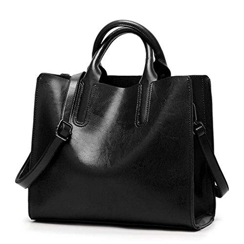 Bolsa de mujer de color sólido Bolso de hombro de bolsa de mensajero de gran capacidad para el trabajo en colores múltiples (Color : D) E