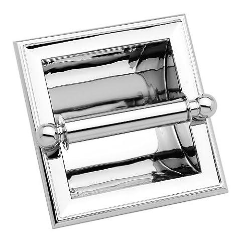 Ginger 4528/SN Columnar Recessed Toilet Tissue Holder, Satin Nickel - Nickel Recessed Toilet Paper Holder