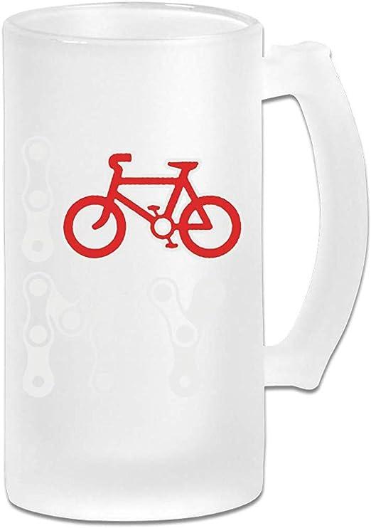 Amo mi bicicleta DIY Imprimir vidrio cerveza agua taza térmica ...
