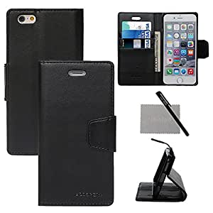 """xhorizon TM Leather Flip Wallet Stand Case with 3 Card Slots and 1 Money Holder ZY for 4.7"""" iPhone 6"""