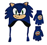 Sonic Boys' Little Boom Winter Beanie and Glove Set, 100% Acrylic Knit, Royal, one Size