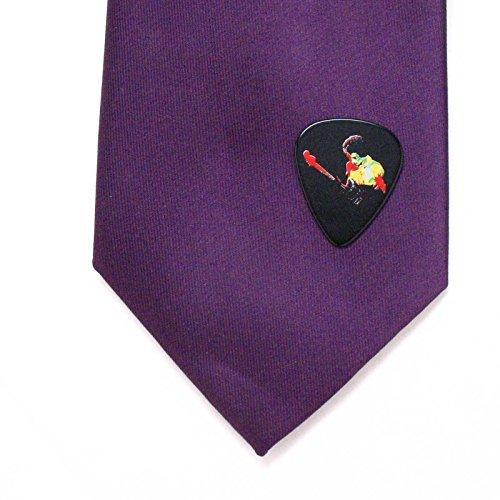 Jimi Hendrix Guitar Pick Lapel Pin Tie Tack Music Psychedelic Rock Woodstock