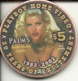 $5 palms 20 years of excitement playboy las vegas casino chip