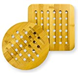 'Bamboo Trivets (Set of 2)' from the web at 'https://images-na.ssl-images-amazon.com/images/I/51CUXsXVkgL._AC_SR160,160_.jpg'